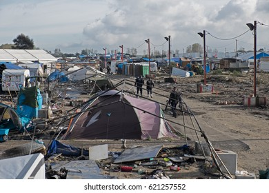 Demolition of the Jungle camp, Calais, France. October 2016
