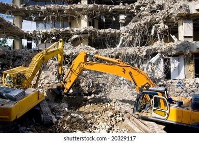 Demolition of an office block