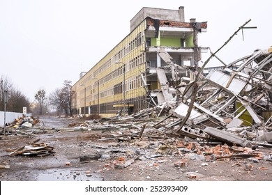 Demolition of the old factory building