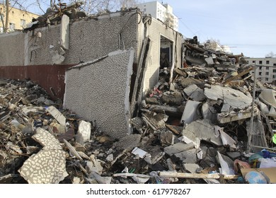 Demolition of old residential buildings