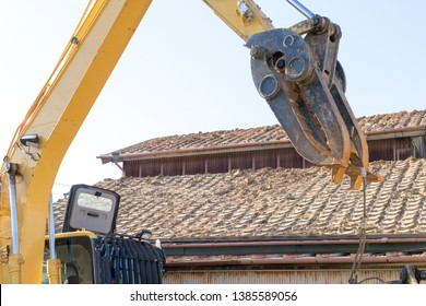 Demolition work of wooden house