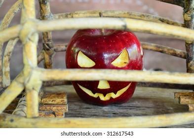 Demon Apple imprisoned Halloween.