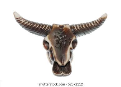 demon bull skull