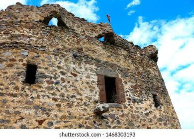 the demon castle in ardahan city of turkey