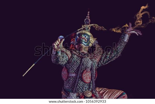 Demon King Name Thodsakan Epic Ramayana Stock Photo Edit