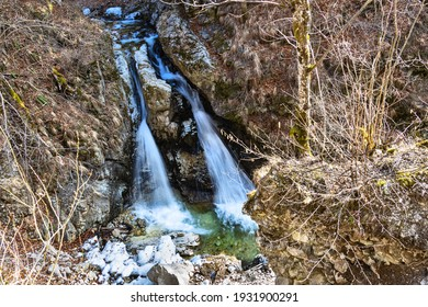 Demons mill waterfall on Cerna river, near Horezu town, Valcea, Romania - Shutterstock ID 1931900291