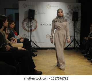 "Demonstration of the Crimean Tatar clothing brand ""Qara biber"" in the Crimean House, in Kiev, February 1, 2019"