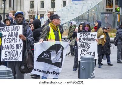 Demonstration and Protest March in Philadelphia - PHILADELPHIA / PENNSYLVANIA - APRIL 6, 2017