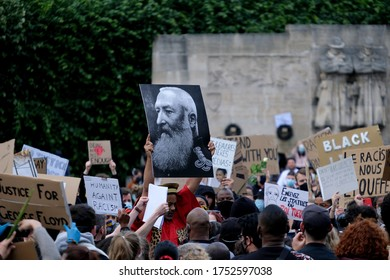Demonstrators take part in a protest march to  express their solidarity after the violent death of George Floyd  on May 25 in the US city of Minneapolis  in Brussels, Belgium on  June 7, 2020