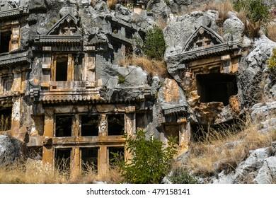 Demre Myra, Antalya province, TURKEY street, garden