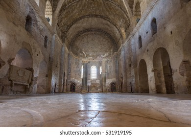 DEMRE, TURKEY - NOVEMBER 12, 2016: Interior of the St. Nicholas Church (Santa claus) in Antalya (Demre) Turkey.