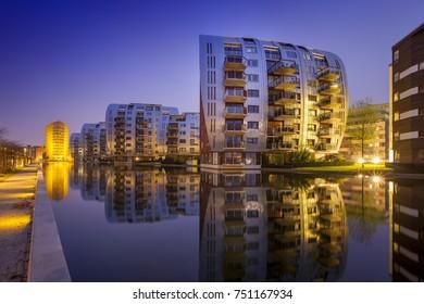 DEN BOSCH, HOLLAND - APRIL 5 201:7Modern architecture at Paleiskwartier quarters, Den Bosch, Netherlands