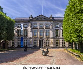 Den Bosch, Netherlands, July 26, 2015: The Noordbrabants Museum, location of the Jheronimus Bosch exhibition 'Visions of a Genius'.