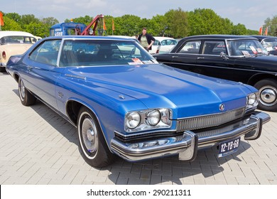 DEN BOSCH, THE NETHERLANDS - MAY 10, 2015: 1973 Buick Le Sabre on the parking lot at the Rock Around The Jukebox event.