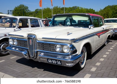 DEN BOSCH, THE NETHERLANDS - MAY 10, 2016: Vintage 1959 Ford Edsel classic car