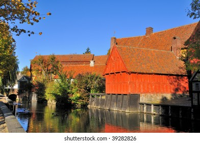 """Den Gamle By"" in Aarhus, Denmark- The Old Town is showing urban history and culture from century 1600-1800."