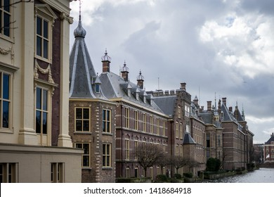 Den Haag, Netherlands - 17 March 2019: Buitenhof, Binnenhof, The international court of justice at Hague