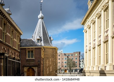 Den Haag, Netherlands - 17 March 2019: The Binnenhof of Buitenhof, Hague