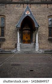 Den Haag, Netherlands - 17 March 2019: The Binnenhof of Buitenhof, Hague