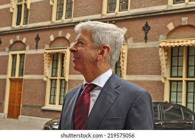 DEN HAAG, THE NETHERLANDS, 19 SEPTEMBER 2014 - Dutch minister Ronald Plasterk speaking to the press after the weekly government meeting.