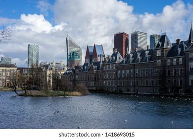 Den Haag, Netherlands, Europe, Binnenhof, BUILDINGS IN CITY AGAINST CLOUDY SKY