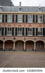 Den Haag, Netherlands, Europe, Binnenhof, EXTERIOR OF OLD BUILDING AGAINST SKY