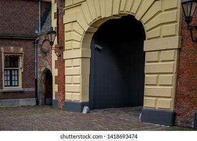 Den Haag, Netherlands, Europe, Binnenhof, ENTRANCE OF BUILDING
