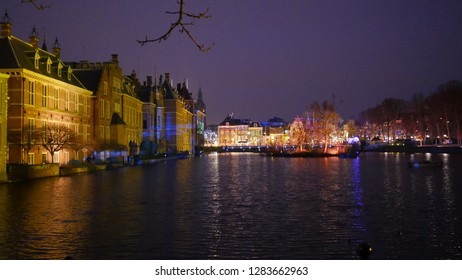 Den Haag, South Holland/The Netherlands - December 31 2018: Den Haag, South Holland/The Netherlands - December 31 2018: Binnenhof building