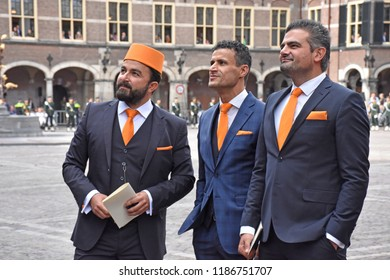Den Haag/The Netherlands, September 18 2018 - Members of Dutch political party DENK at the Binnenhof. The party is focusing on citizens with a migrant background.