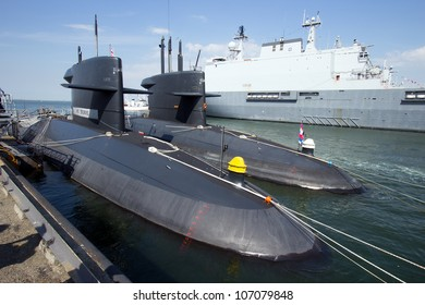 DEN HELDER, THE NETHERLANDS - JULY 7: Submarines of the Dutch Navy open for visits during the Dutch Navy Days on July 7, 2012 in Den Helder, The Netherlands