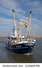 DEN OEVER, THE NETHERLANDS – AUGUST 28, 2018: Fishing day event a Netherlands festival at the fishing village den oever for promoting the fishing industry,