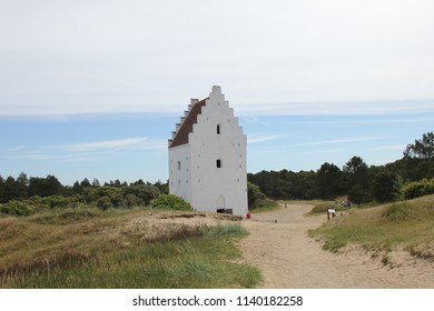Den Tilsandede Kirke,  also known as The Buried Church or The Sand-Covered Church. Denmark.