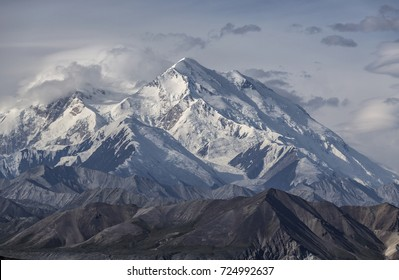 Denali (Mount McKinley) is the highest mountain peak in North America, Alaska, United States