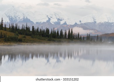 Denali of Mt McKinley in morning light