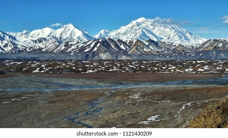 Denali as seen from the north in Denali National Park wilderness