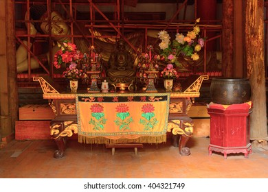DENGFENG, CHINA - MAR 28, 2016: Authentic Shaolin Monastery (Shaolin Temple), a Zen Buddhist temple. UNESCO World Heritage site