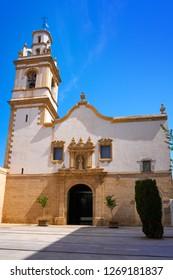 Denia Convent square church of Sant Antoni in alicante Spain