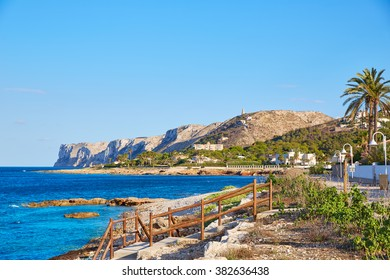 Denia Las Rotas beach in Mediterranean Alicante of Spain