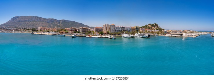 Denia skyline panoramic in Alicante of Spain