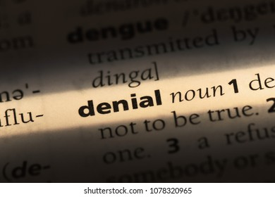 Denial Word In A Dictionary Concept