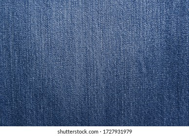 Denim blue Fabric Texture closeup