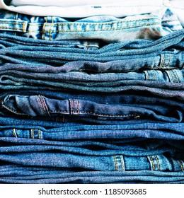 Denim. Jeans background. Denim jeans texture or denim jeans background.