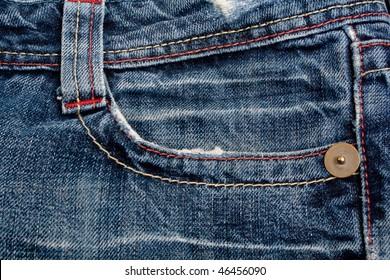 Denim jeans pocket. background