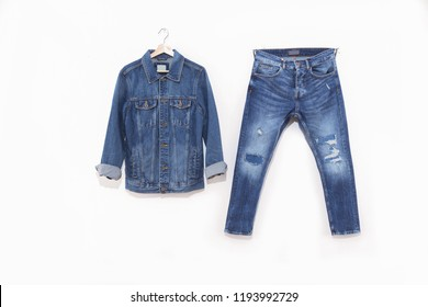 Denim Texture, Background- jacket with blue Jeans