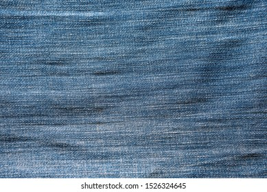 Denim texture of blue fabric.