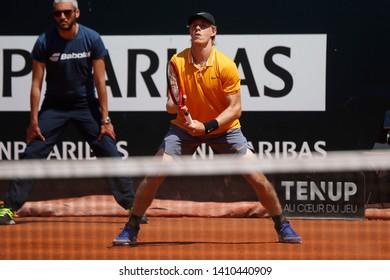 Denis Shapovalov (CAN) during the Open Parc Auvergne-Rhone-Alpes Lyon 2019, ATP 250 Tennis tournament on May 22, 2019 at Parc de la Tete d'Or in Lyon, France