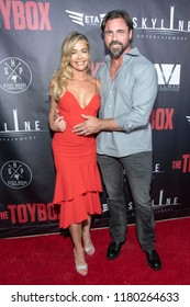 """Denise Richards, Aaron Phypers attends  Skyline Entertainment's  """"The ToyBox"""" Los Angeles  Premiere at Laemmle's NoHo 7, North Hollywood, California on September 14th, 2018"""