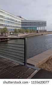 Denmark, Aarhus - October 18, 2014: NSI - navitas Aarhus - Center for Education, Research, Innovation, Entrepreneurship, Business Development and Bridge through the Canal