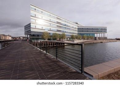 Denmark, Aarhus - October 18, 2014: NSI - Navitas Aarhus - Center for Education, Research, Innovation, Entrepreneurship and Business Development on the Bay of Aarhus