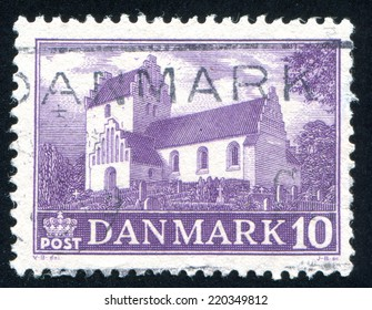 DENMARK - CIRCA 1943: stamp printed by Denmark, shows Ejby Church, circa 1943